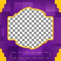 Social Media Template Design. bearbeitbares Foto-Cover-Design vektor
