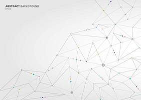 abstrakt digitalt teknologikoncept som förbinder prickar och linjer på vit bakgrund vektor