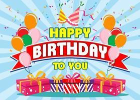 Alles Gute zum Geburtstag Typografie Vektor design.design Vorlage für Geburtstagsfeier.