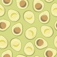 Avocado nahtloses Muster vektor