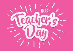 Glücklicher Lehrer Day Paper Cutting vektor