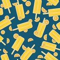 popsicle orange sömlösa mönster vektor
