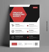 företags röd reklambladmall. vektor