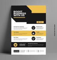 Business Flyer Vorlage mit Platz für Text und Foto.