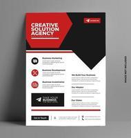 business röd flygblad design. vektor