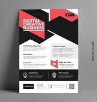 Business minimalistische Flyer Vorlage.