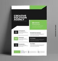 grön snygg reklam mall. vektor