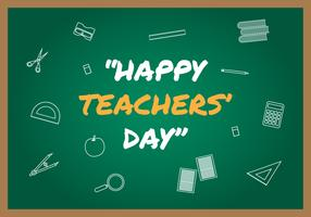 Glückliche Lehrer Day Vector Illustration