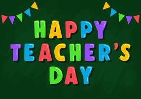Lyckliga lärares dag hälsningar vektor
