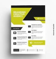 grön företags elegant reklambladmall. vektor