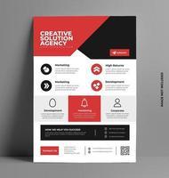 företags affärsblad flygblad mall design. vektor