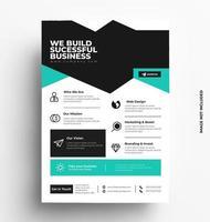 broschyr flygblad design layout vektor. vektor