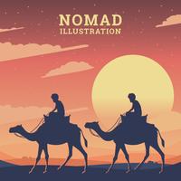 Nomadenillustration vektor