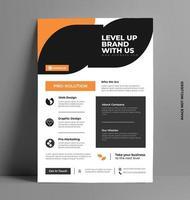 schlankes Design der Firmenflyer-Broschüre. vektor