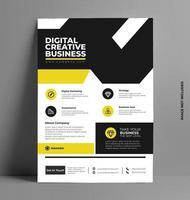 företags gul reklamblad i a4-storlek. vektor
