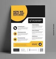 kreativa företags flygblad formgivningsmall. vektor
