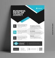 flygbladmall för företagsverksamhet. vektor