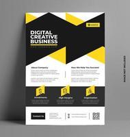corporate business branding flyer design. vektor