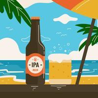 Imperial Pale Ale Strand Vektor