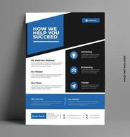 business flyer mall design. vektor