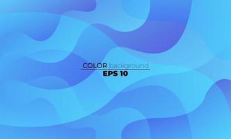 kreative geometrische Tapete blaue Seeflüssigkeit Flussgradient Formen Zusammensetzung. Visual Supply Company Hintergrund für Geschenkkarte, Poster an der Wand Poster Vorlage, Landing Page, UI, UX, Coverbook, Baner, vektor