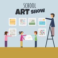 Schule Kunstausstellung vektor