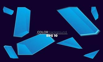 geometrischer Hintergrund des blauen Steins. anwendbar für Geschenkkarte, Poster an Wand Poster Vorlage, Landing Page, UI, UX, Coverbook, Baner, Social Media gepostet, vektor