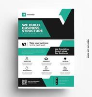 kreativ flygblad broschyr design vektor