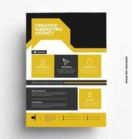 broschyr flygblad designmall