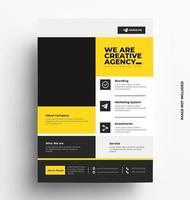 vektor broschyr design av flygblad mall