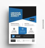 blå företags snygg reklam mall. vektor
