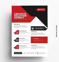 kreativ och snygg flyer mall. vektor