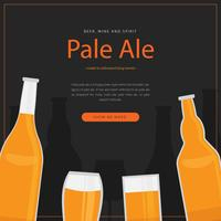 Imperial Pale Ale Thema Vorlage vektor