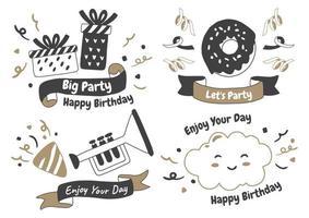 Party Label Vektor Logo für Banner