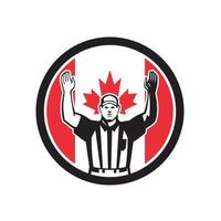 Fußball Referree Touchdown Kanada Flagge vektor