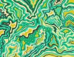 Aquamarin Artic Lime Green Inkscape Suminagashi Kintsugi japanische Tinte Marmor Papier Papier Kunst