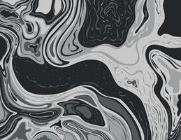 gråskala och grå monokrom bläck landskap suminagashi kintsugi japansk bläck marmorering papper konst vektor