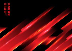 abstrakt röd färg ljus sneda linje teknik koncept på svart bakgrund. vektor