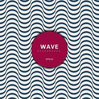 abstrakter moderner blauer Wellenentwurfshintergrund. Musterstruktur der Wellenstreifen. vektor