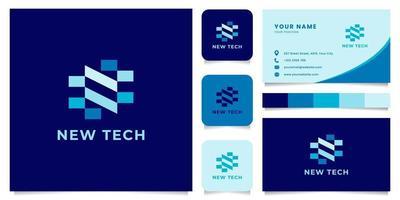 Buchstabe n Logo mit Visitenkartenvorlage vektor