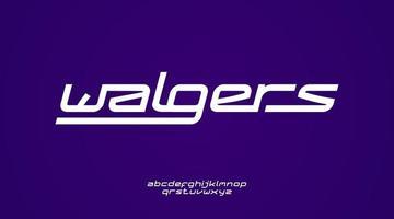 modernt och futuristiskt kursivt teckensnitt lämpligt för logotyp eller monogram
