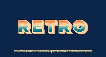 bunter Retro 3d Texteffekt vektor