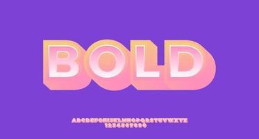 gul och rosa fet 3d popkonst texteffekt