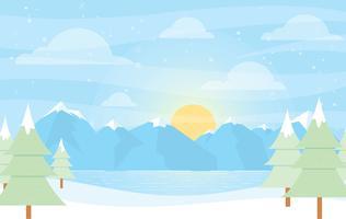 Vektor vinter landskaps illustration