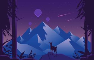Vektor-purpurrote Landschaftsillustration vektor