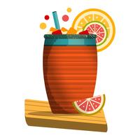 Cantarito-Cocktail auf weißem Hintergrund