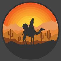 nomad illustration vektor