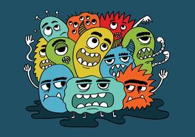 mürrische Monstergruppe vektor