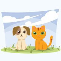 Welpen und Kätzchen vektor