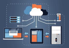 Cloud-Ingenieure-Vektor-Design vektor